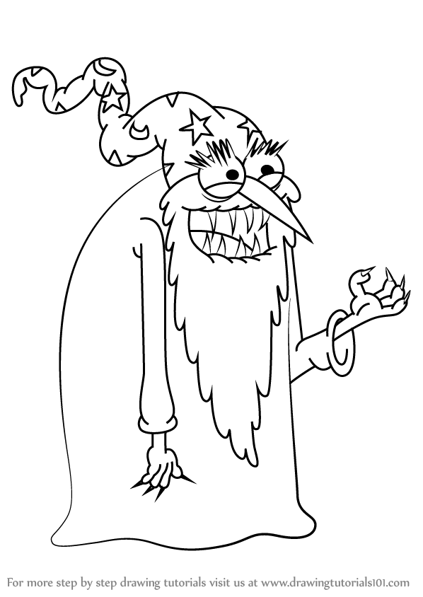 598x844 Learn How To Draw Evil Wizard From Uncle Grandpa (Uncle Grandpa