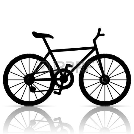 450x450 Bike Freehand Drawing Black And White Vector Royalty Free Cliparts
