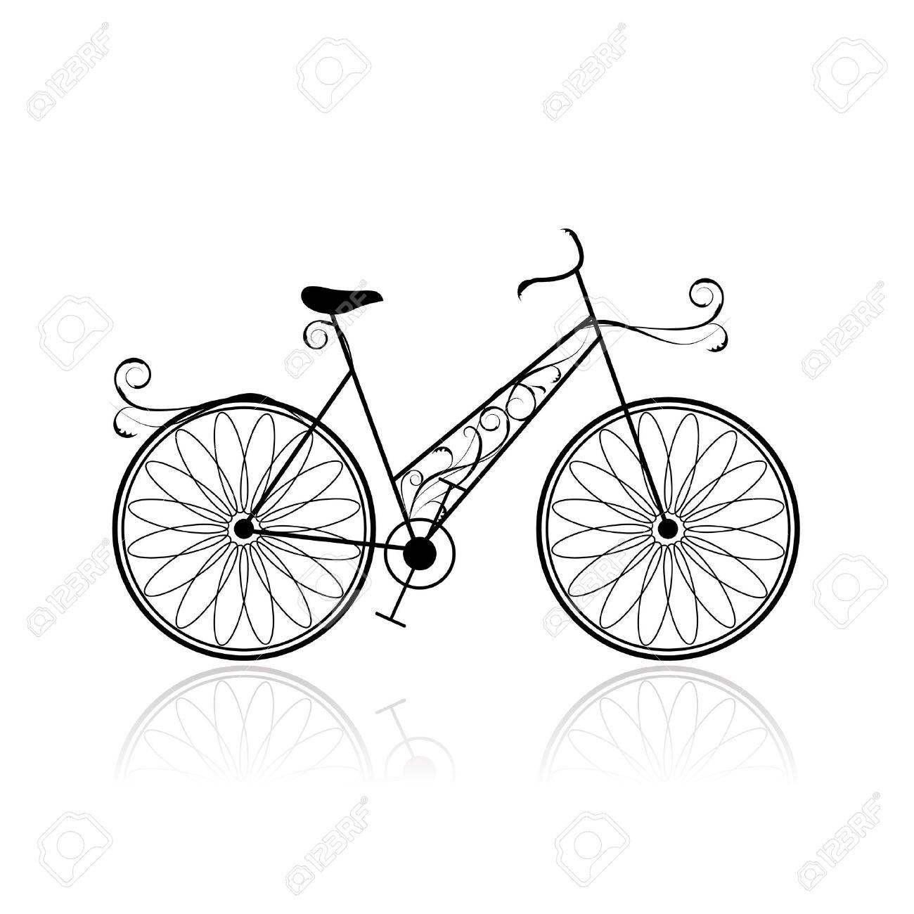 1300x1300 Female Bicycle For Your Design Royalty Free Cliparts, Vectors,