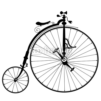 400x400 Old Bicycle Drawing Wall Mural We Live To Change