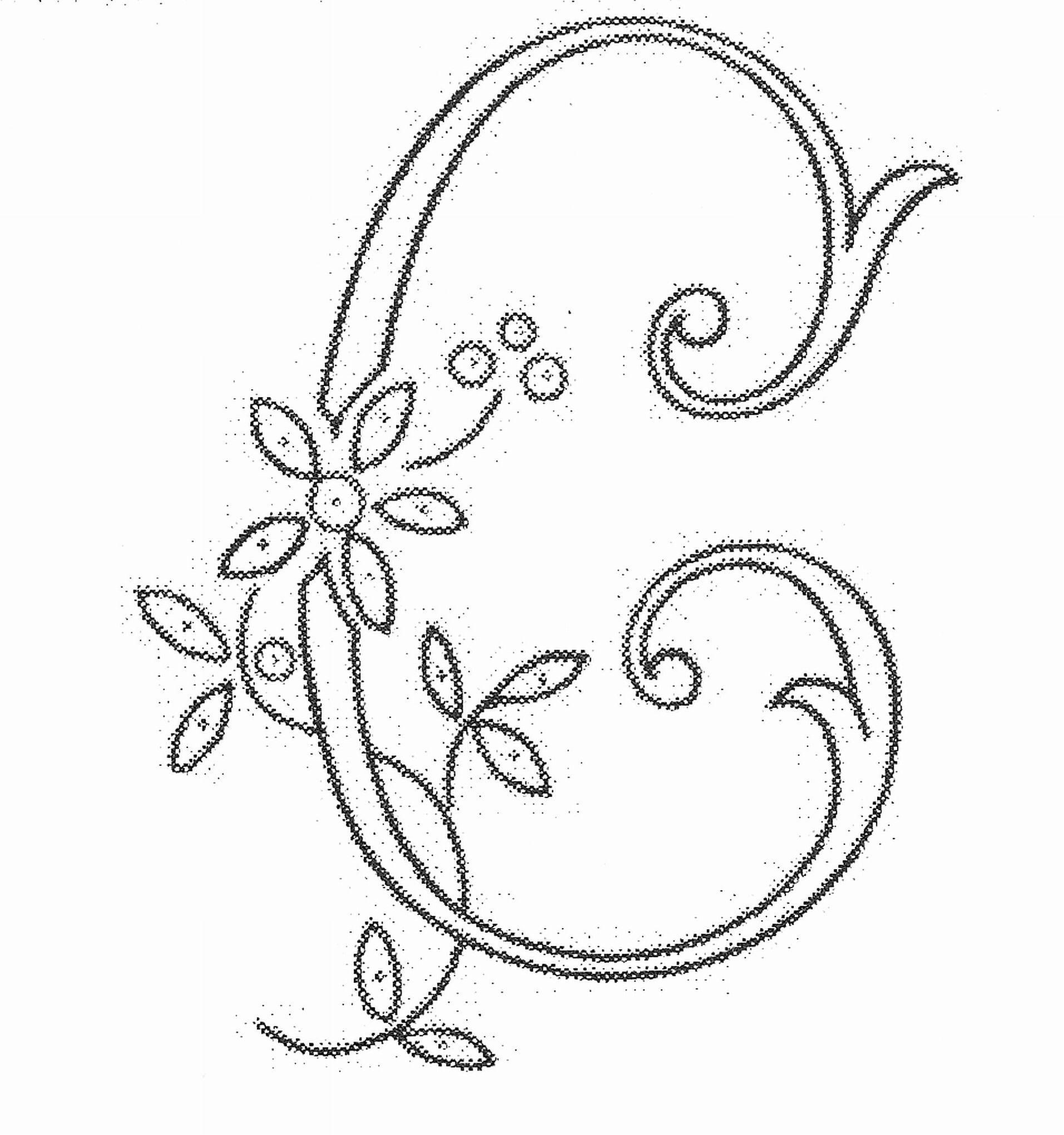 1913x2041 03 04 2010 Monogram Embroidered Letter C Monograms, Alphabet