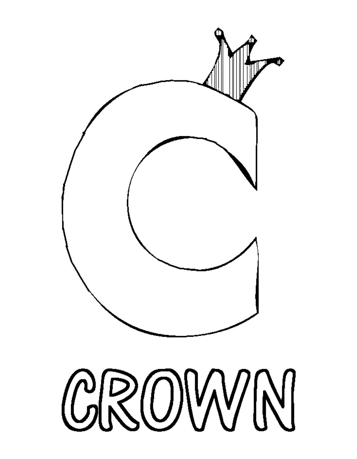 1226x1576 Crown C Coloring Pages Alphabet Alphabet App