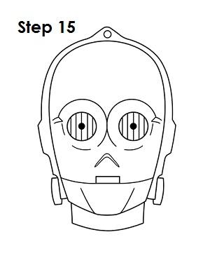 300x388 How To Draw C 3po