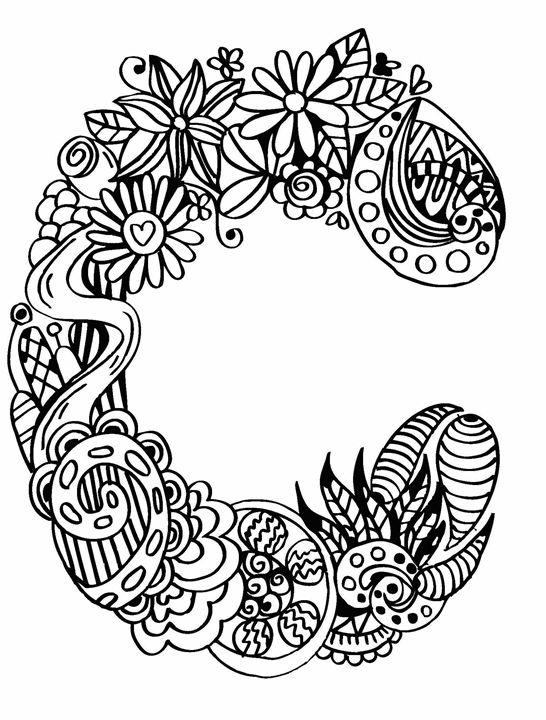546x720 Alphabet C Doodle Art