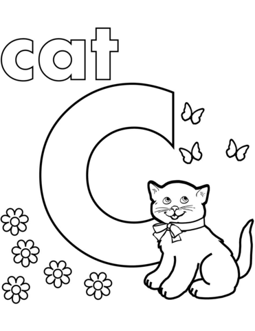 371x480 C Is For Cat Coloring Page Free Printable Coloring Pages