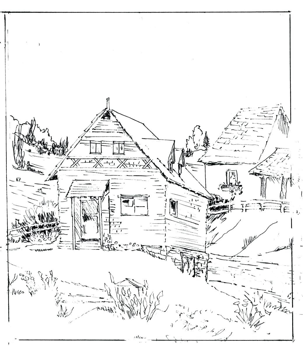 Cabin Drawing at GetDrawings.com   Free for personal use Cabin ...
