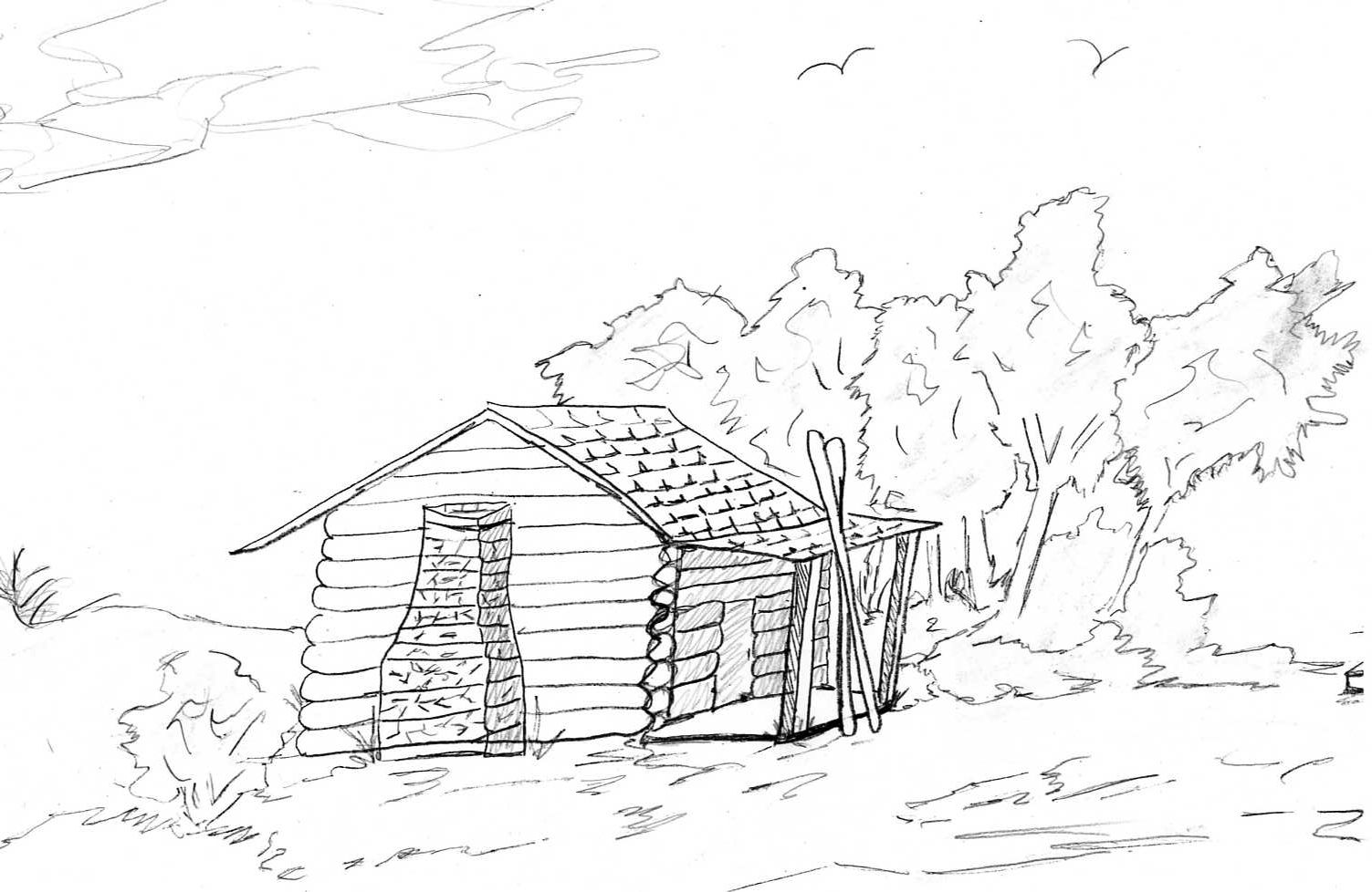 1503x978 Log Cabin Coloring Pages Town Log Cabin Coloring Pages For Adults