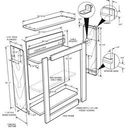 Charming 250x260 Cabinet Blueprints Pdf