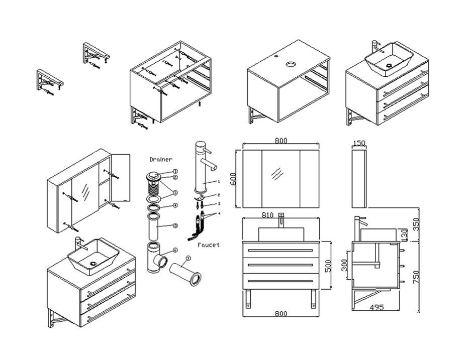 937x709 Contemporary Bath Furniture Contemporary Bathroom Cabinets