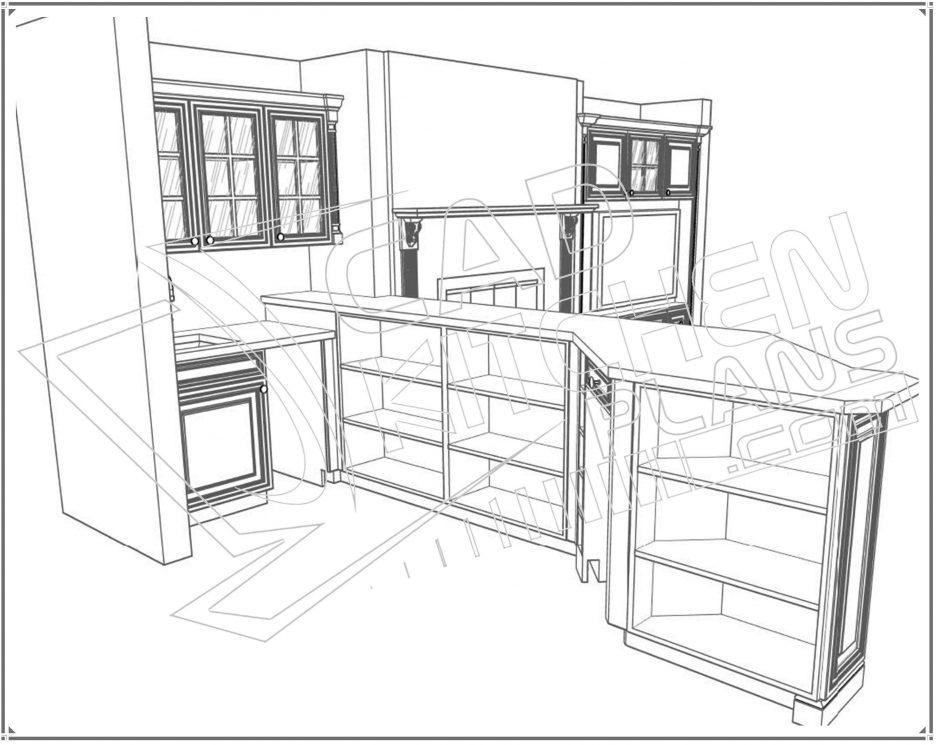 936x745 Kitchen Elevation Dwg Kitchen Details Dwg Autocad Drawing Kitchen