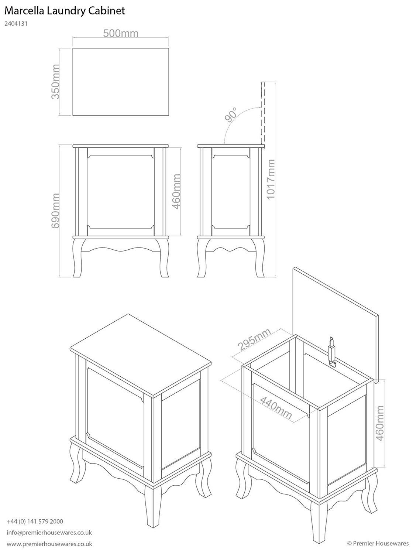 1119x1500 Premier Housewares Marcella Laundry Cabinet