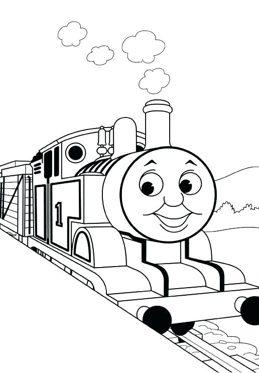 516x743 Coloring Page Of A Train Circus Train Coloring Pages Train Caboose