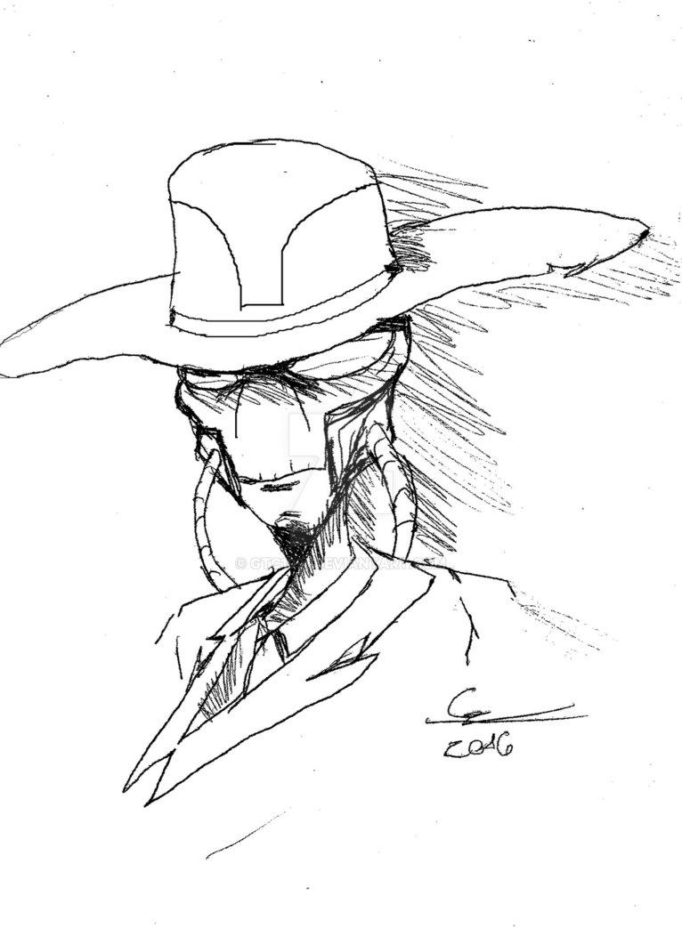 766x1043 Cad Bane Sketch By Gtc1991