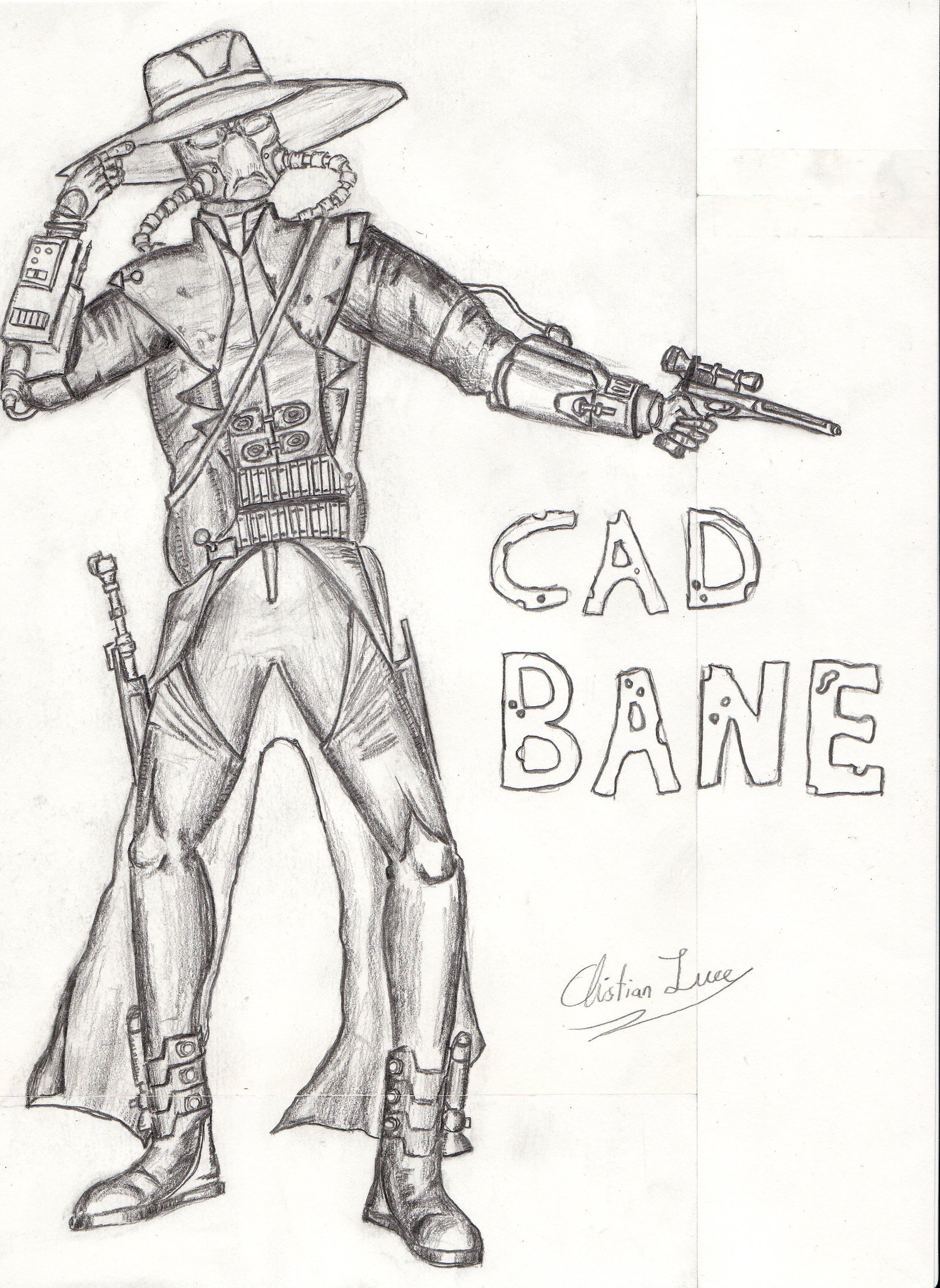 1598x2189 Cad Bane By Christianluce