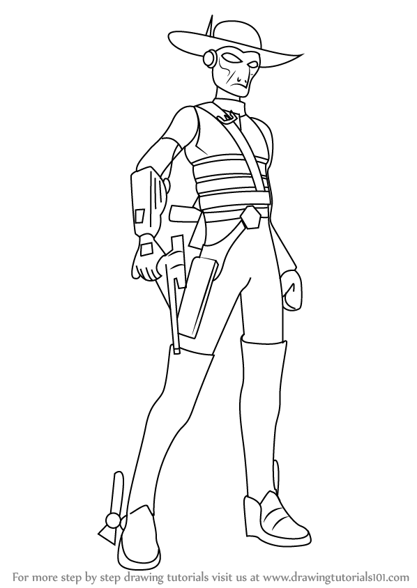 598x844 Learn How To Draw Cad Bane From Star Wars (Star Wars) Step By Step