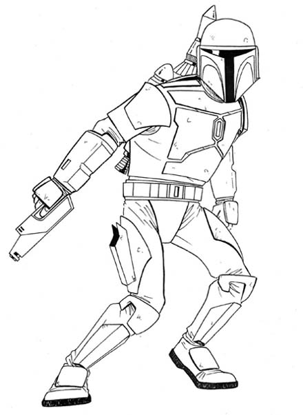 440x602 Patrick's Awesome Reviews How To Draw Jango Fett.