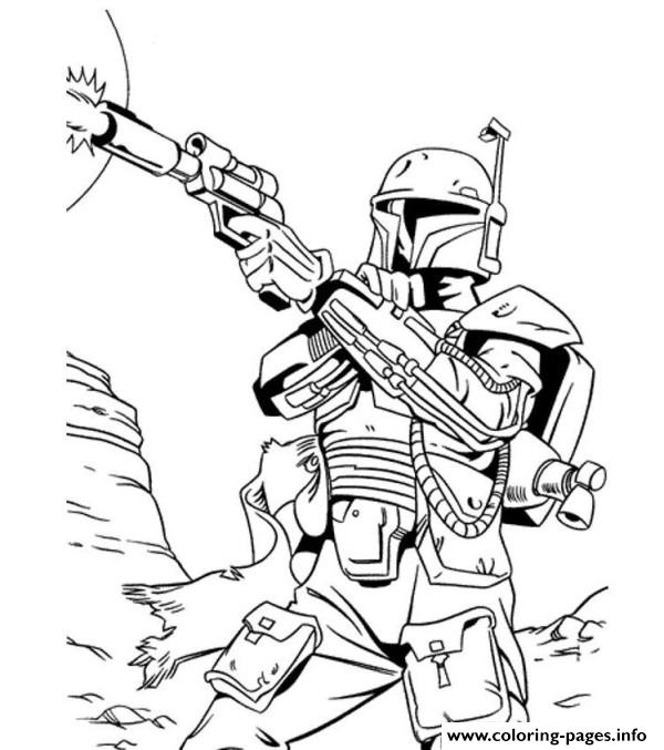 600x677 Star Wars Boba Fett Coloring Page Wecoloringpage Lineart Star