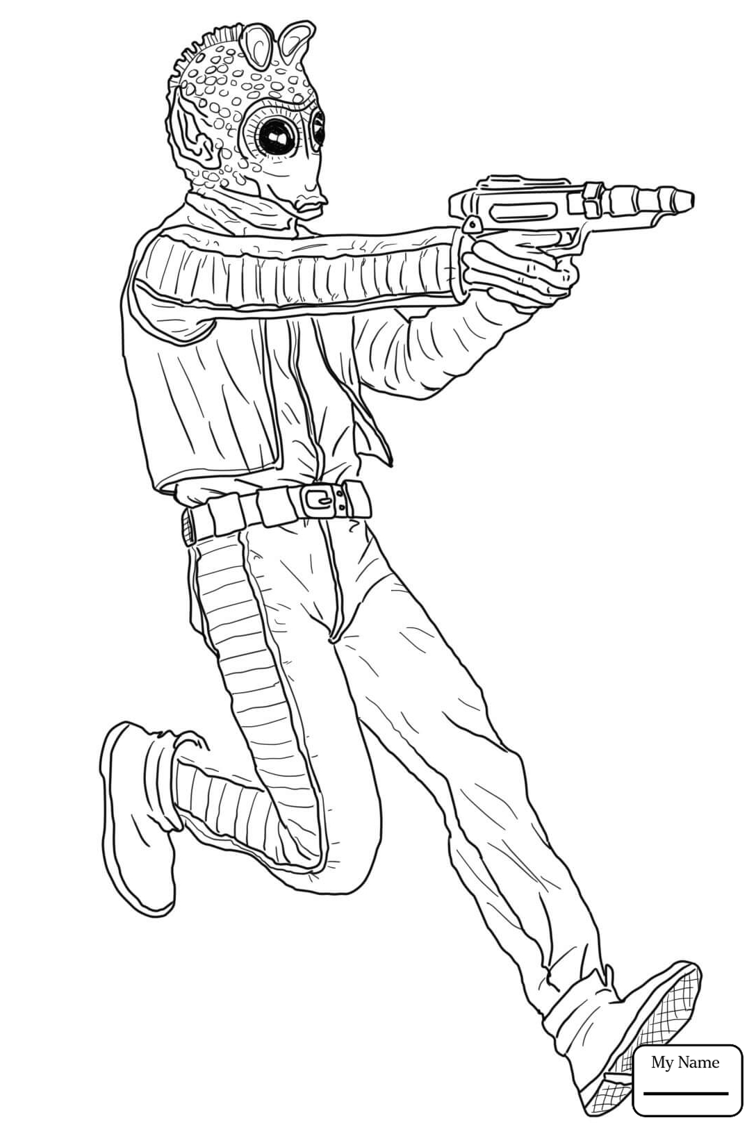 1088x1632 Cartoons Cad Bane The Clone Wars Coloring Pages For Kids