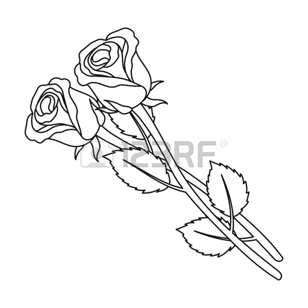 450x450 Grave, Rose And Other Icon In Black Style Royalty Free Cliparts