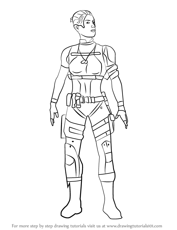 612x792 Learn How To Draw Cassie Cage From Mortal Kombat (Mortal Kombat