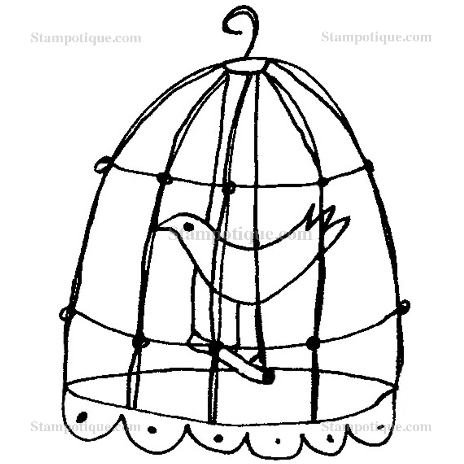 1500x1500 Bird In Cage Drawing Bird In A Cage