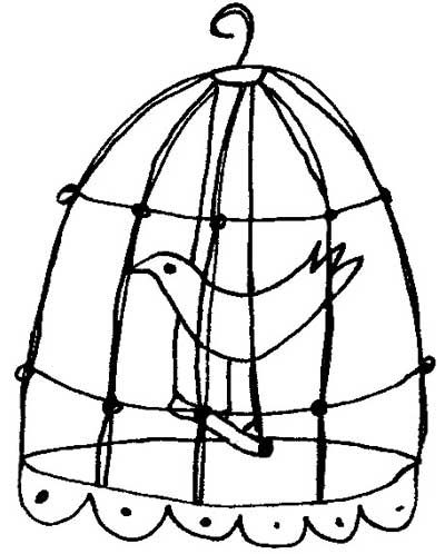 Caged Bird Drawing