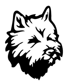283x330 Carin Terrier Head Decal Sticker