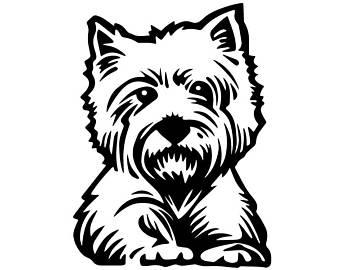 340x270 Highland Terrier Svg Etsy