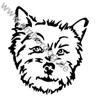 325x355 Norwich Terrier Wall Tattoo No. Tk0186, Plastic, 30 X 20 Cm