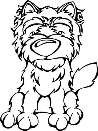 318x424 Cairn Terrier Decal Angry Squirrel Studio