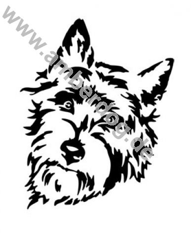 387x480 Cairn Terrier No. Tk0179 Wall Sticker By
