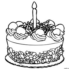 236x236 Cake Cartoon Drawing In 4 Steps With Photoshop