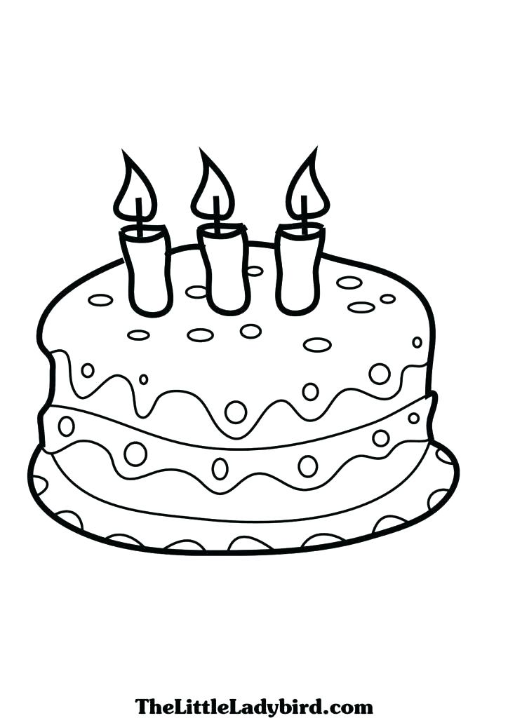 724x1024 Delightful Coloring Pages Of Cakes Best First Birthday Cake