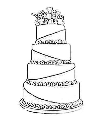 400x480 Photos How To Draw A Fancy Cake,
