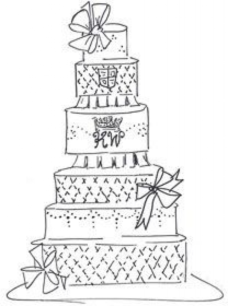 761x1024 Wedding Cake 12 Best Cake Sketches Images On Cards