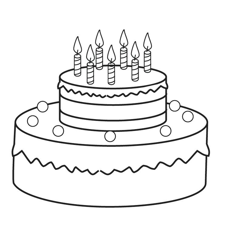 745x757 Cake Pictures To Color Genesisar.co