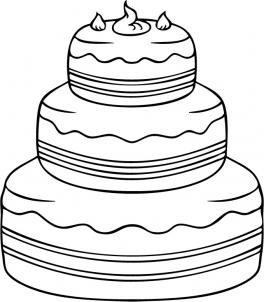 264x302 How To Draw How To Draw A Cake