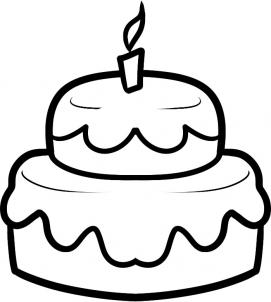 271x302 How To Draw How To Draw A Cake For Kids