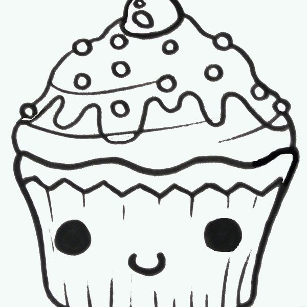 600x600 Easy Drawing Cupcakes how to draw a cute cupcake free download