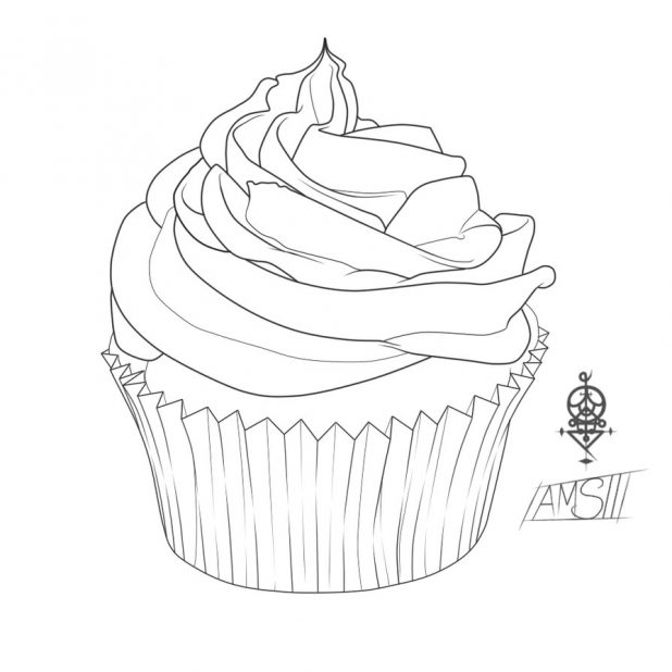 618x618 how to draw a cute cake step by step easy celebrating 300k