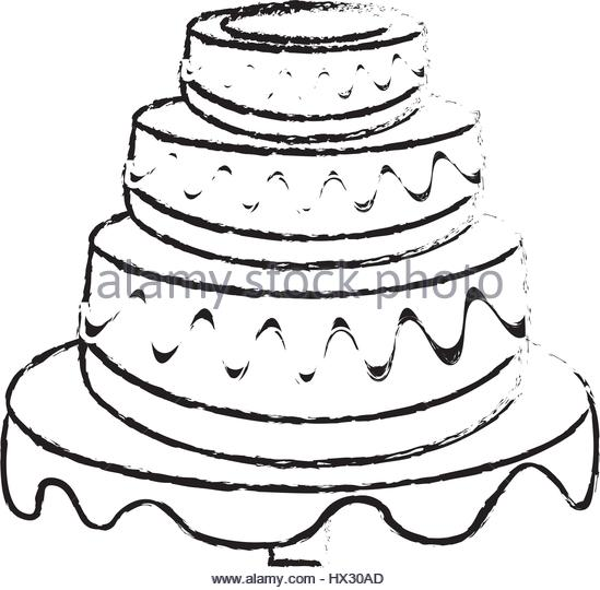 549x540 Birthday Cake Vector Sketch Stock Photos amp Birthday Cake Vector