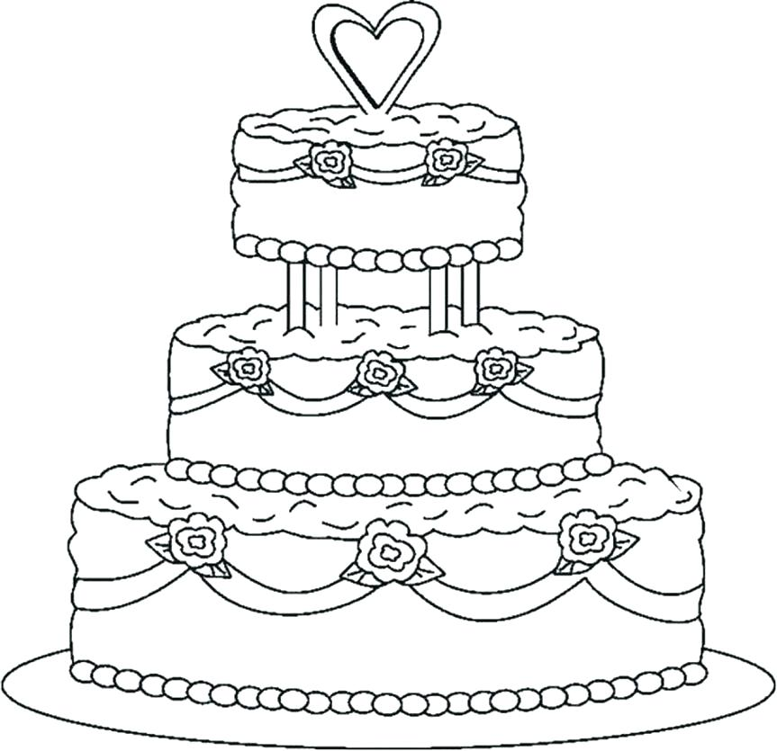 863x835 Cake Coloring Book And With Birthday V On Happy Birthday Cake