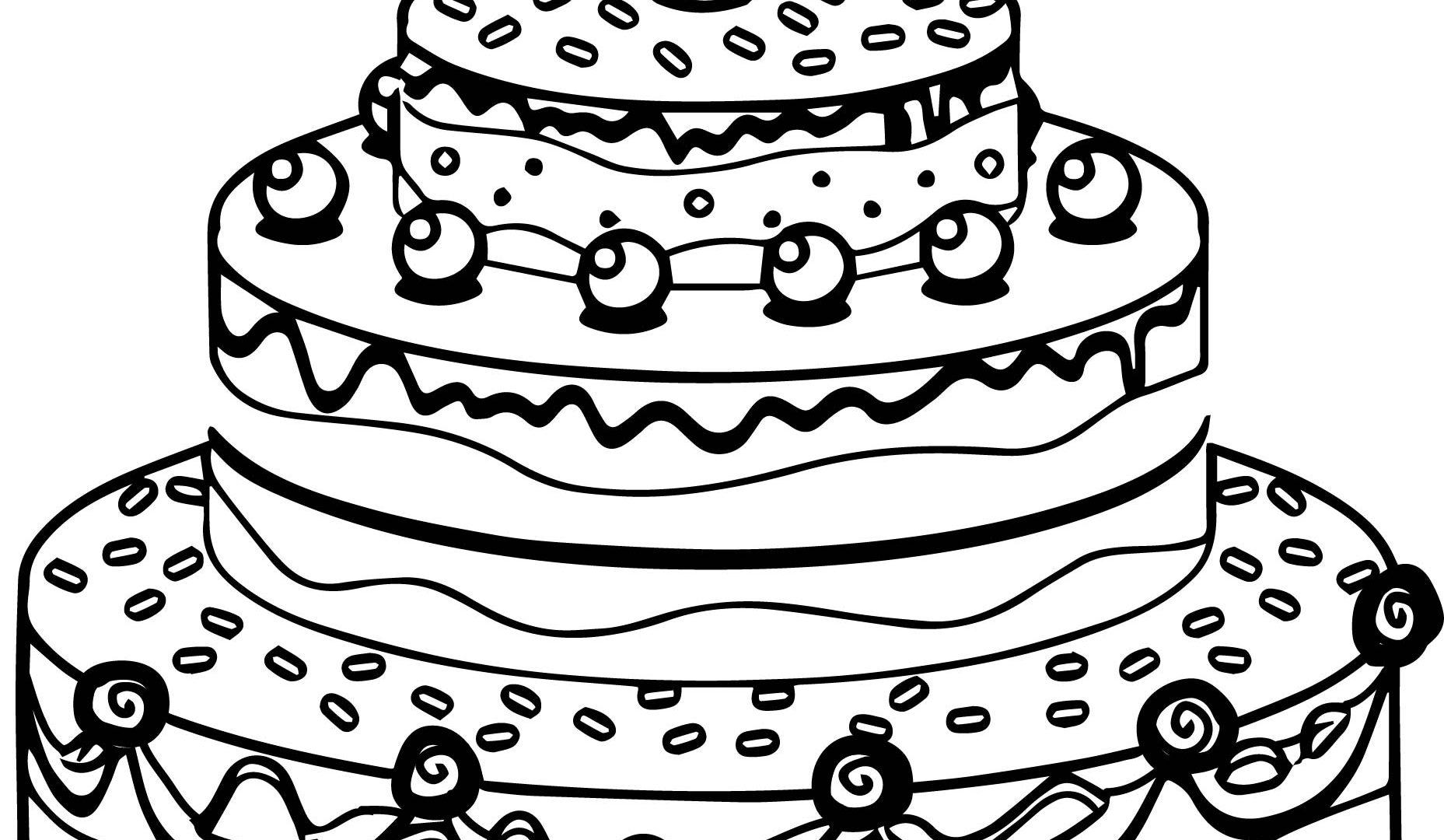 1857x1080 Download Coloring Pages Birthday Cake For Kids Free To Print