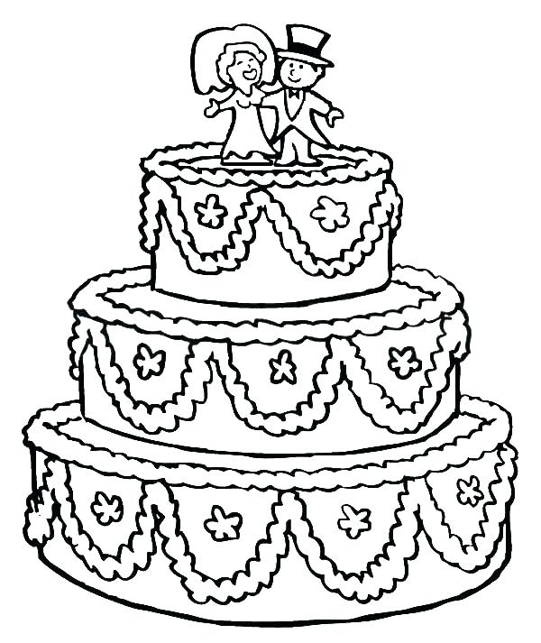 600x713 New Birthday Cake Coloring Page Printable Image Best Colouring