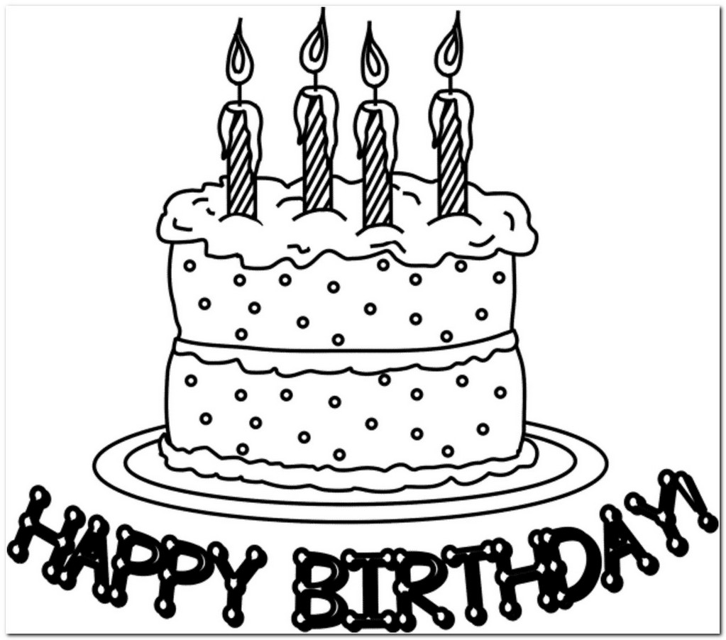 1023x902 coloring page birthday cake download Drawing Board Weekly