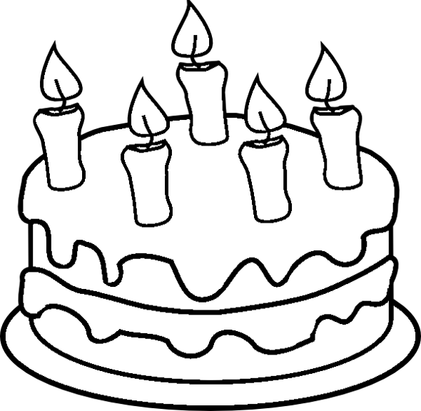 590x576 Birthday Cake Coloring Page Click on Image to Open up Coloring