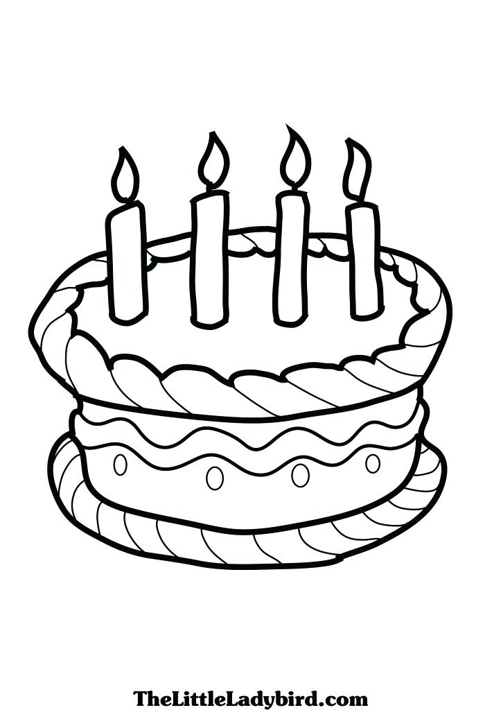 723x1024 Birthday Cake Coloring Pages Preschool How To Draw – Best Coloring