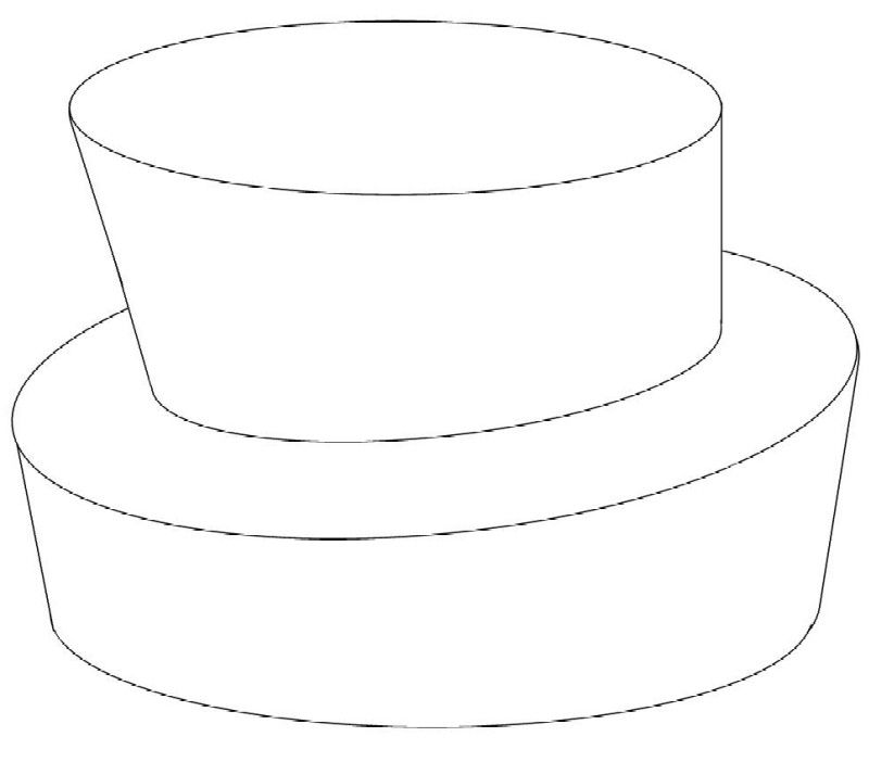 Cake Drawing Template