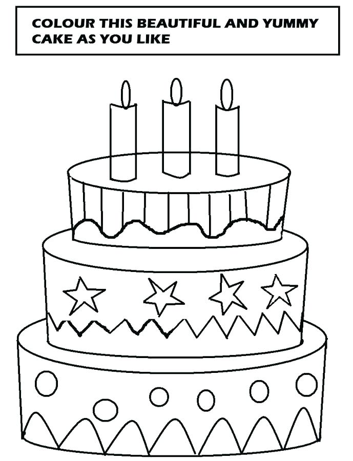 689x900 Delightful Coloring Pages Of Cakes Best Cupcake Template To Color
