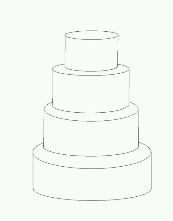 wedding cake pattern templates cake drawing template at getdrawings free for 23389